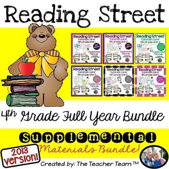 Reading Street 4th Grade Common Core Unit 1-6 Full Year Bundle 2013