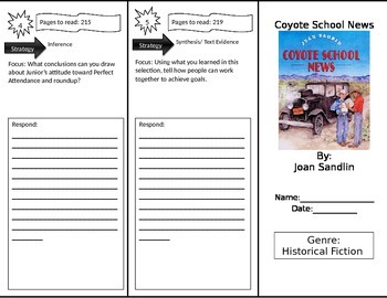 Reading Street 4th Grade Coyote School News Trifold