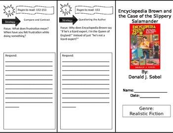 Reading Street 4th Grade Encyclopedia Brown Trifold