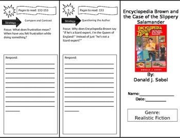 Reading Street 4th Grade Encyclopedia Brown Trifold