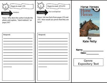 Reading Street 4th Grade Horse Heroes Trifold
