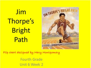 Reading Street 4th Grade Jim Thorpe Comprehensive Flipchart with Center Activity