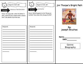 Reading Street 4th Grade Jim Thorpe Trifold