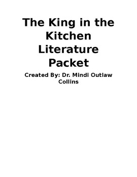 Reading Street 4th Grade ~ King in the Kitchen Literature Packet