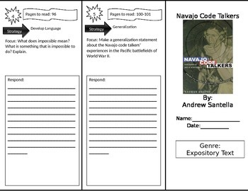 Reading Street 4th Grade Navajo Code Talkers Trifold