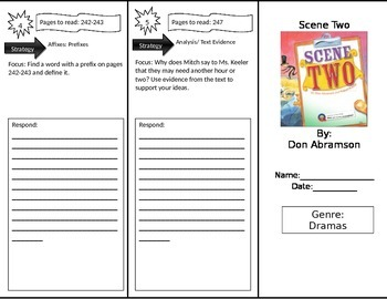 Reading Street 4th Grade Scene Two Trifold