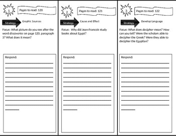 Reading Street 4th Grade Seeker of Knowledge Trifold