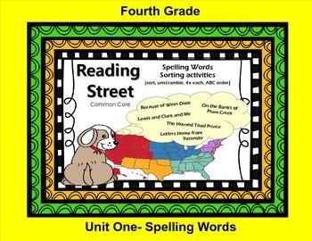 Reading Street 4th Grade Spelling Sort for Unit One