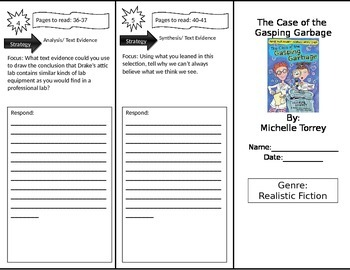 Reading Street 4th Grade The Case of the Gasping Garbage Trifold
