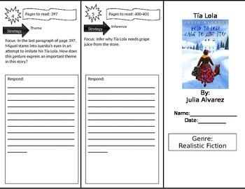 Reading Street 4th Grade Tia Lola Trifold