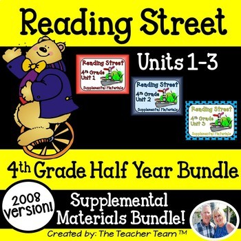 Reading Street 4th Grade Unit 1-2-3 2008 version Supplemental Materials