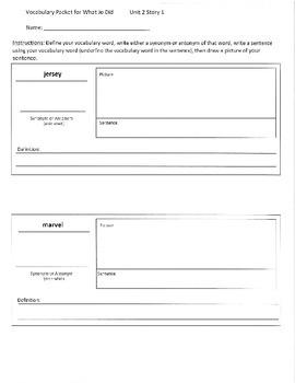 Reading Street 4th Grade Unit 2 Vocabulary Packets