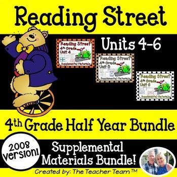 Reading Street 4th Grade Unit 4-5-6 Bundle Supplemental Materials