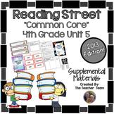 Reading Street 4th Grade Unit 5 Supplemental Materials Common Core 2013