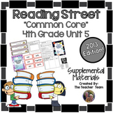 Reading Street 4th Grade Unit 5 Printables | 2013
