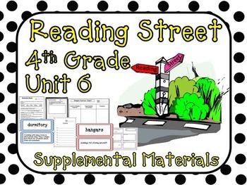 Reading Street 4th Grade Unit 6 Supplemental Materials