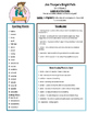 Reading Street 4th Grade Unit 6 Review sheets centers group work aid