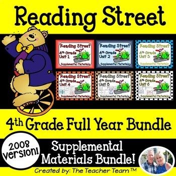 Reading Street 4th Grade Units 1-6 Full Year Supplemental