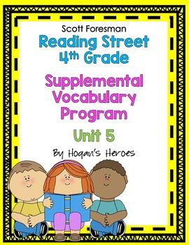 Reading Street 4th Grade Vocabulary Unit 5