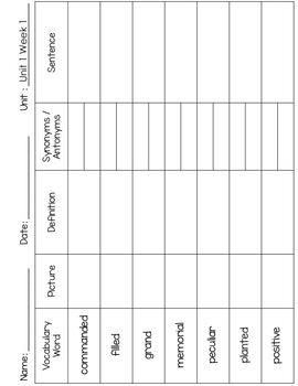 Reading Street 4th Grade Vocabulary Freebie
