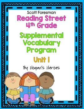 Reading Street 4th Grade Vocabulary Unit 1