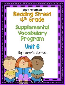 Reading Street 4th Grade Vocabulary Unit 6