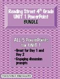 Reading Street 4th- UNIT 1 PowerPoint BUNDLE!