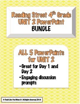Reading Street 4th- UNIT 2 PowerPoint BUNDLE!