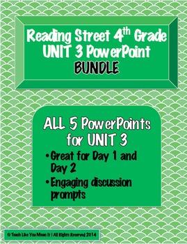 Reading Street 4th- UNIT 3 PowerPoint BUNDLE!