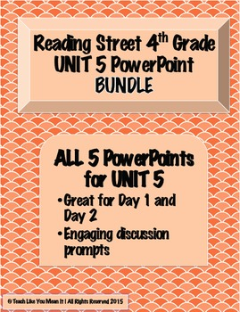 Reading Street 4th- UNIT 5 PowerPoint BUNDLE!