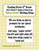 Reading Street 4th- Unit1 Week3 'Sprial Write' Strips for Banks of Plum Creek