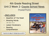 Reading Street 4th- Unit 2 Week 2 PowerPoint- Coyote School News