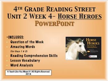 Reading Street 4th- Unit 2 Week 4 PowerPoint- Horse Heroes