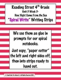 Reading Street 4th- Unit3 Week3 'Spiral Write' Strips for Night Came from Day