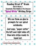 Reading Street 4th- Unit4 Week2 'Spiral Write' Strips for Encantado