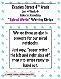 Reading Street 4th- Unit4 Week4 'Spiral Write' Strips for Seeker of Knowledge