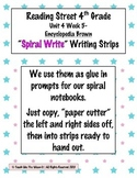 Reading Street 4th- Unit4 Week5 'Spiral Write' Strips for Encyclopedia Brown