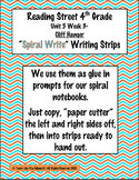 Reading Street 4th- Unit5 Week3 'Spiral Write' Strips for Cliff Hanger