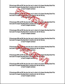 Reading Street 4th- Unit6 Week2 'Spiral Write' Strips for Jim Thorpe