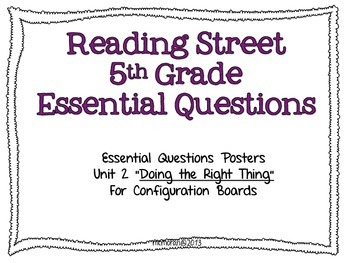 Reading Street 5th EQs Unit2