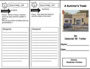Reading Street 5th Grade A Summer's Trade Trifold