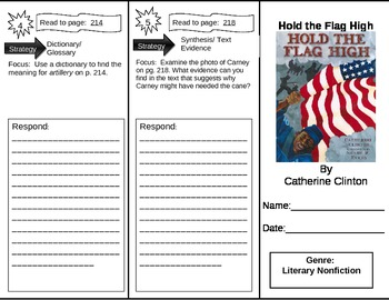 Reading Street 5th Grade Hold the Flag High Trifold