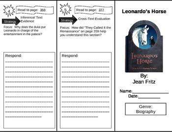 Reading Street 5th Grade Leonardo's Horse Trifold