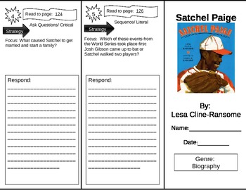 Reading Street 5th Grade Satchel Paige Trifold