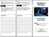 Reading Street 5th Grade Talk with an Astronaut Trifold
