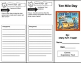 Reading Street 5th Grade Ten Mile Day Trifold