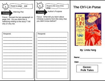 Reading Street 5th Grade The Ch'i-lin Purse Trifold