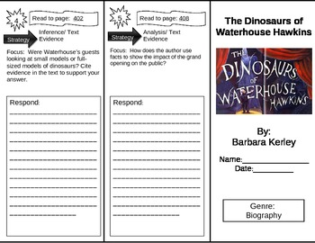 Reading Street 5th Grade The Dinosaurs of Waterhouse Hawkins Trifold