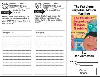 Reading Street 5th Grade The Fabulous Perpetual Motion Machine Trifold