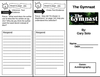Reading Street 5th Grade The Gymnast Trifold